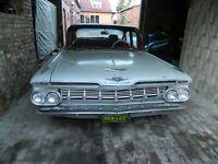 1959 GM Impala,Bel Air,Biscayne,Nomad,Brookwood-alle 6-Zylinder Hood-Vee,NEU-NOS