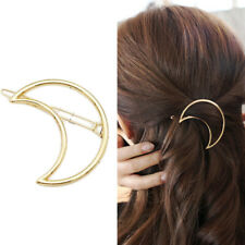 Gold Triangle Hair Clip Pin Metal Geometric Alloy Moon Ponytail Barrette✿