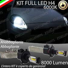 KIT FULL LED FIAT GRANDE PUNTO LAMPADE LED H4 6000K BIANCO GHIACCIO NO ERROR