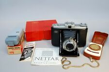 Zeiss Ikon Nettar Folding Camera for 6x6cm with Box, Ikophot & Ikoblitz
