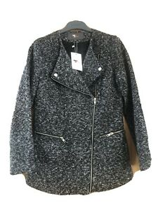 Tent Size 10 Boucle Fully Lined Jacket Rrp$60