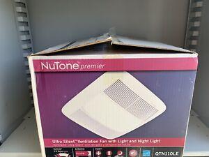 NEW NuTone PREMIER QTN110LE Very Quiet 110 CFM Ceiling Exhaust Bath Fan w/Light