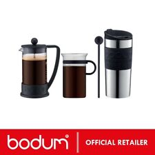 BODUM COFFEE SET | BRAZIL Press 3 cup + 300ml Glass + 350ml Travel Mug K10948-01