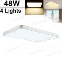 4X 48W LED Ceiling Light Modern Fixture Bedroom Kitchen Surface Mount Lighting