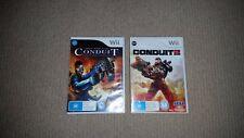 Conduit 1 + 2 Nintendo Wii Games