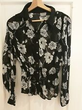 Ghost Fitted Floral Blouse Size S Worn Once