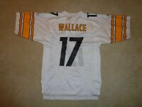 Men's Reebok NFL Pittsburgh Steelers Mike Wallace White Football Jersey - Size S