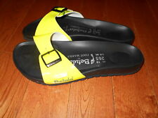 Betula For Foot Marks Neon Sandals NEW Luca Sz 5 Women's Yellow Slides Mules