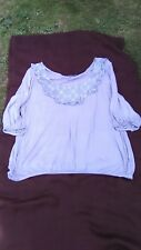 Grey top with lace panel size 18