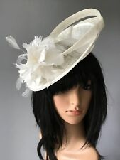 37e618ad6a9dd IVORY WEDDING ASCOT HAT FORMAL FASCINATOR MOTHER OF THE BRIDE FORMAL  OCCASION