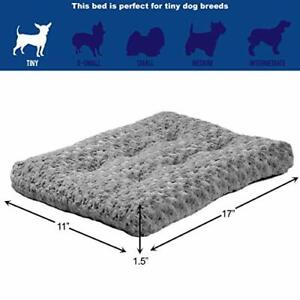 NEW MidWest Homes for Pets Deluxe Pet Beds | Super Plush Dog & Cat 18-Inch, Gray