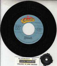 "FATS DOMINO  Blueberry Hill 7"" 45 rpm vinyl record NEW + juke box title strip"