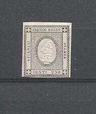 Sardinia 1861 Newspaper Stamp Numerals 1c Black 4 Margins Unmount Mint SG N62