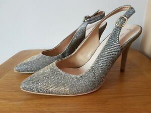 BNWT New Look Size 6 Glittery Slingback Stiletto