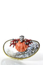Harl Taylor Multi-Color Abalone Body Coral Shell Embellished Clutch Handbag