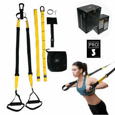 Pro3 Home Gym Suspension Resistance Strength Fitness Training Straps Trainer