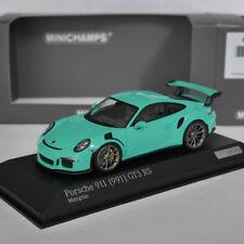 Porsche 911 (991) gt3 RS 2015 Mint verde Green 1 of 200 Minichamps 1:43 OVP