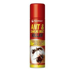 Pestshield - Ant & Crawling Insect Killer Spray Can - 300ml Flea Cockroach
