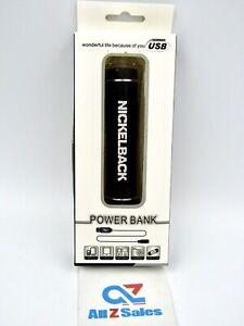 Power Bank USB External Power Tube Portable Charger w/ Flashlight, Black - NEW