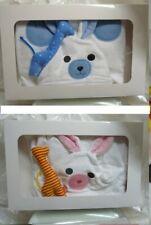 * BABY Bademantel ROSA o HELLBLAU mit Sigikid© Schmusegriraffe + Geschenkbox *