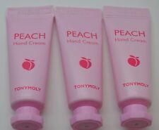 3X Tonymoly Peach Hand Cream 10 ml Ipsy Tony Moly Set of 3