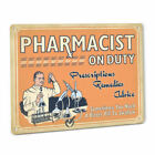Pharmacy SIGN Pharmacist Vintage Drug Store Decor Male Apothecary In Uniform