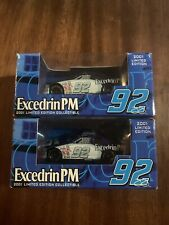 2 - 2001 RACING CHAMPIONS #92 JIMMIE JOHNSON Diecast CAR EXCEDRIN PM