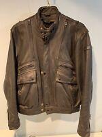 Men's Hein Gericke Vintage Leather Touring Motorcycle Jacket 44 d501