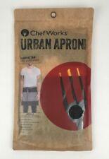 Chef Works Urban Apron Collection Manhattan Half Bistro Apron Aw046-Blk New