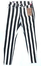 True Religion 'HALLE WIDE STRIPE' Black & White Jeans Size 27 NEW RRP$279 Womens