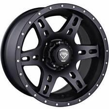 "15x8 White Diamond WD-2757 5x5"" / 5x127mm Matte Black Custom Wheels -10mm"