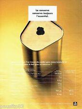 PUBLICITE ADVERTISING 106  1998  la  boite conserve   foie gras