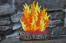 Camping Campfire FUN  Outdoor Fire Wooden Puzzle Amish Scroll Toy  New Design