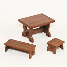 Playmobil Möbel SET 3 teilig Tisch Bank Hocker 3666 Schlossküche 3268 PR275