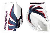 New Warrior Fortress Pro Sr goalie blocker and catcher glove ice hockey blue/red