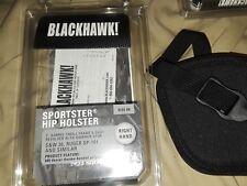 """Blackhawk Sportster Gun Holster, 9, (2"""" Barrel 5-shot Revolver) B990221BK"""
