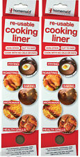 2x Re-Useable Cooking Liner Non-Stick Sheets Baking Roasting Frying Microwave