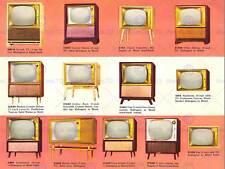 Anuncio Vintage Retro Televisor guía de información Fine Art Print cartel ABB6326B
