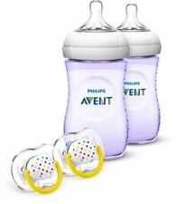 Philips Avent Natural Baby Bottle Purple Gift Set SCD693/23