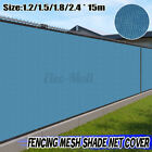 50X6FT Privacy Fence Screen Blue Windscreen Shade Cover Fabric Mesh Garden Tarp