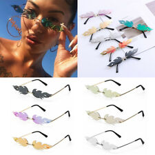 Fashion Fire Flame Sunglasses Women Men Rimless Wave Sun Glasses Luxury Trending