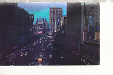 Times Square Night The Great White Way  New York City NY   Mailed 1950  PC 2177
