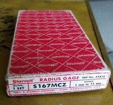 Starrett Model No S167mc 5mm 15mm Radius Gage Set Complete Machinist Used