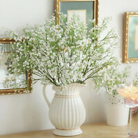 2x Artificial Plastic Bushes of Gypsophila Flowers Garden Wedding Party Decor