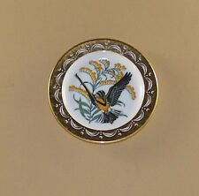 State Birds and Flowers Miniature Mini Plate Nebraska Meadowlark Goldenrod