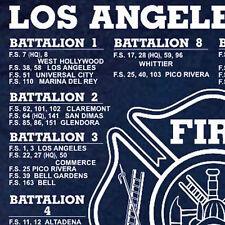 Los Angeles Co. Fire Battalions 1 thru 21 T-shirt L