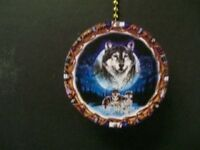 (1) NATIVE AMERICAN WOLF CEILING FAN PULL PULLS