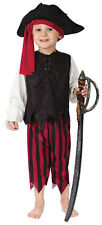 Kids Pirate Captain Boys Girls Fancy Dress Costume Outfit & Hat New Age 3-4