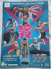 LONDON 2012 OLYMPICS + MARIO & SONIC DOUBLE-SIDED VIDEOGAME PROMO POSTER new