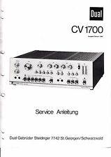 Service Manual-Anleitung für Dual CV 1700
